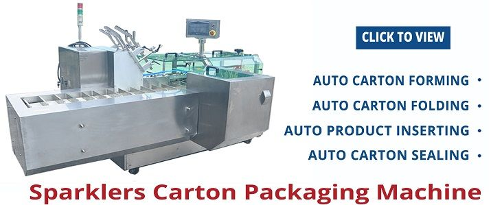 Sparklers Carton Packaging Machine
